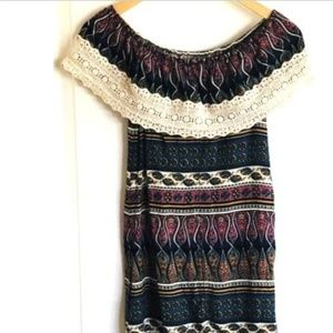 Hollister Off the Shoulders Tunic Top
